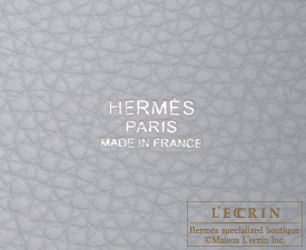 Hermes Picotin Lock Touch bag MM Blue pale/Pearl grey Clemence leather/ Swift leather Silver hardware