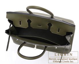 replica hermes handbags birkin - Hermes Birkin bag 35 Olive green Togo leather Silver hardware ...