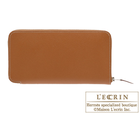 Hermes Azap long Gold Epsom leather Silver hardware