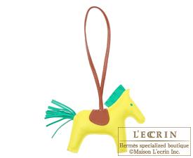 Hermes Rodeo charm Lime/Menthe Agneau