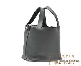 Hermes Birkin bag 30 Vert fonce/Dark green  Clemence leather Silver hardware