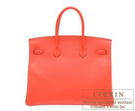 Hermes Birkin bag 35 Rose jaipur Epsom leather Silver hardware