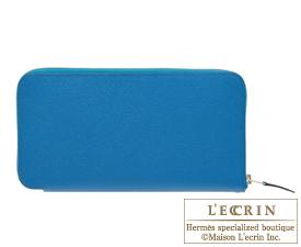 Hermes Azap long Blue izmir Epsom leather Silver hardware