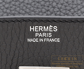 Hermes Birkin bag 30 Plomb Clemence leather Silver hardware