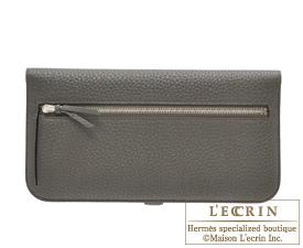 Hermes Dogon LONG Olive green/Vert Olive Togo leather Silver hardware