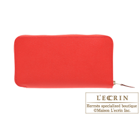Hermes Azap long Bougainvillier Epsom leather Silver hardware