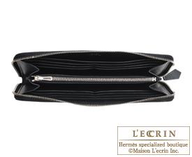 Hermes Azap long Black Epsom leather Silver hardware
