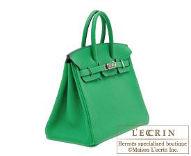 Hermes Birkin bag 25 Bambou Togo leather Silver hardware