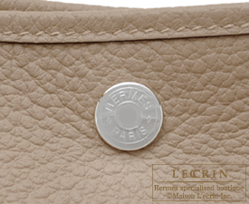 Hermes Garden Party bag TPM Gris tourterelle/Mouse grey Country leather Silver hardware