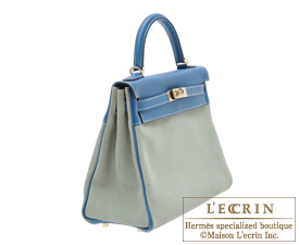 Hermes Kelly Amazon bag 32 Retourne Ciel/Blue de galice Grizzly leather/Evercolor leather Champagne gold hardware