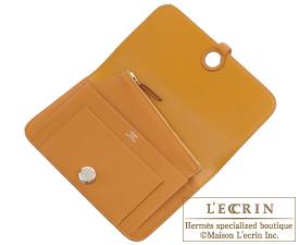 Hermes Dogon GM Caramel Togo leather Silver hardware