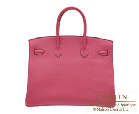 Hermes Birkin bag 35 Tosca Fjord leather Silver hardware