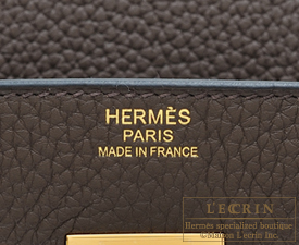 Hermes Birkin bag 30 Cafe/Coffee Clemence leather Gold hardware