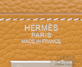 Hermes Kelly bag 32 Natural sable Clemence leather Silver hardware