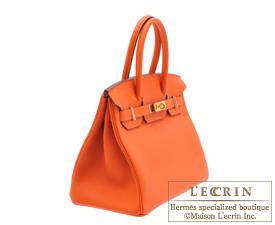 deb17be515 ... Hermes Birkin bag 30 Feu Fire orange Togo leather Gold hardware