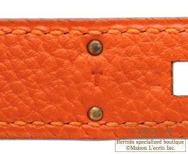 0063cd3f28 Hermes Birkin bag 30 Feu Fire orange Togo leather Gold hardware ...