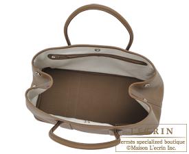 Hermes Garden Party bag TPM Toundra Negonda leather Silver hardware