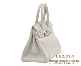 Hermes Birkin bag 30 Pearl grey Swift leather Silver hardware
