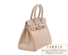 Hermes Birkin bag 30 Argile Tadelakt leather Guilloche hardware