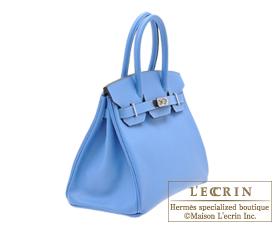 Hermes Birkin bag 30 Blue paradise Epsom leather Silver hardware