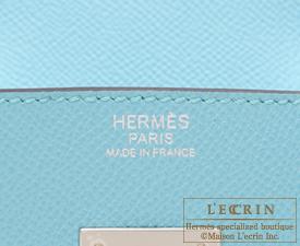 Hermes Birkin bag 30 Blue atoll Epsom leather Silver hardware ...