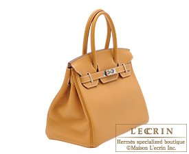 3c813990ae Hermes Birkin bag 30 Natural sable Clemence leather Silver hardware ...