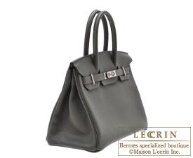 Hermes Birkin bag 30 Vert gris/Green grey Clemence leather Silver hardware