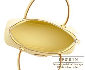 Hermes Bolide bag 27 Jaune Poussin Epsom leather Silver hardware