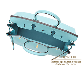 Hermes Birkin 30 Togo Blue Atoll Gold Hardware 2015