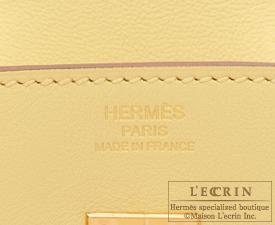 Hermes Birkin bag 25 Jaune poussin Swift leather Gold hardware