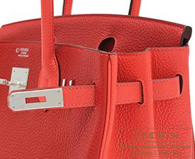 hermes knockoffs - hermes birkin bag 30 rouge h clemence leather silver hardware