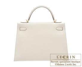hermes handbags - Hermes Kelly bag 32 Sellier Craie Epsom leather Gold hardware ...