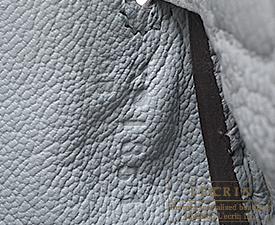 Hermes Kelly bag 25 Blue glacier Togo leather Silver hardware