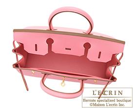 Hermes Birkin bag 30 Rose confetti Epsom leather Matt gold hardware