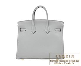 Hermes Birkin bag 25 Blue glacier Togo leather Gold hardware