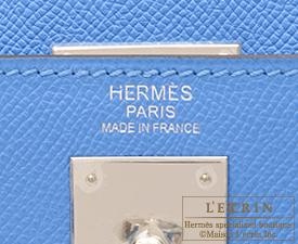 Hermes Kelly bag 32 Blue paradise Epsom leather Silver hardware