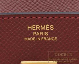 Hermes Rouge H Clemence Birkin 30cm Gold Hardware