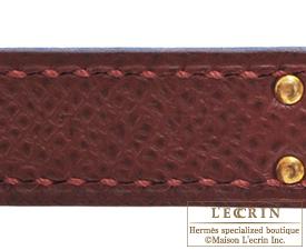 Hermes Birkin bag 25 Rouge H Epsom leather Gold hardware