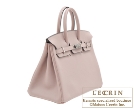 tasche hermes - Hermes Birkin bag 25 Glycine Evercolor leather Silver hardware ...