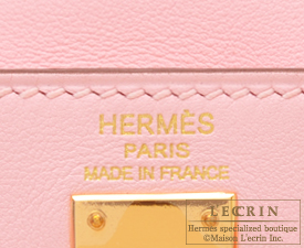 Hermes Kelly bag 25 Rose sakura Swift leather Gold hardware
