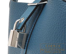 Hermes Picotin Lock Touch bag PM Colvert Clemence leather/ Swift leather Silver hardware