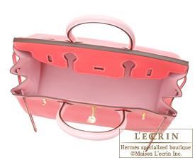 Hermes Birkin bag 30 Rose lipstick/Rose sakura Chevre myzore goatskin Matt gold hardware