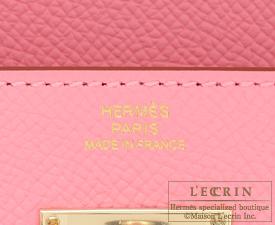 hermes rose confetti epsom kelly longue wallet gold hardware