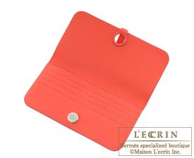 Hermes Dogon LONG Rouge pivoine Togo leather Silver hardware