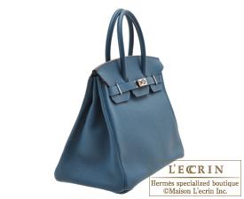 Hermes Birkin bag 35 Colvert/Colvert blue Togo leather Silver hardware