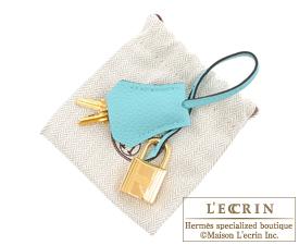 Hermes Birkin bag 25 Blue atoll Togo leather Gold hardware