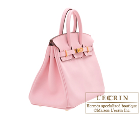 Hermes Birkin bag 25 Rose sakura Swift leather Gold hardware