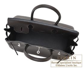 Hermes Birkin bag 30 Macassar Togo leather Silver hardware