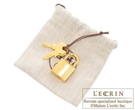 Hermes Picotin Lock Eclat bag PM Blue indigo/Orange poppy Clemence leather/Swift leather Gold hardware