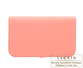 Hermes Dogon GM Rose candy Togo leather Silver hardware